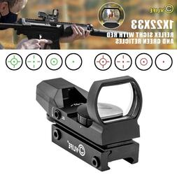 CVLIFE 1X22X33 Red Green Dot Gun Sight Scope Reflex Sight wi