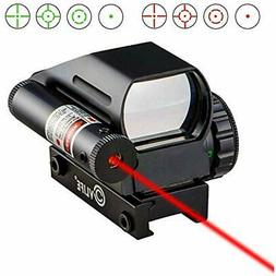 CVLIFE 1x22x33 Reflex Sight Red And Green 4 Reticle Dot With