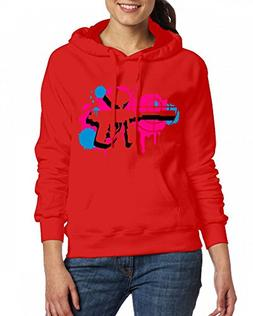 JanJan3366 Custom Womens Hooded - Design A Paintball Gun Wit