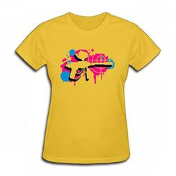 JanJan3366 T Shirt For Women - Design A Paintball Gun With a