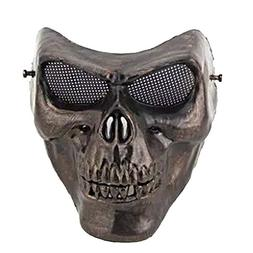 Sunshine-G A Full Face Protection Skull Mask with Metal Mesh