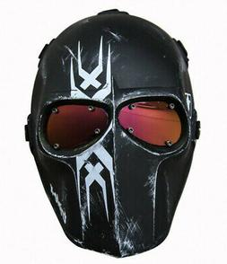Airsoft BB Gun Paintball Full Face Goggle Mask Military Prot