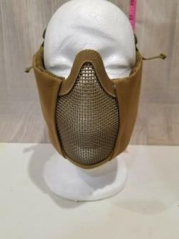 ONE TIGRIS AIRSOFT GUN HALF FACE WIRE MESH MASK CAMOUFLAGE H