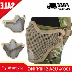 Airsoft Half Face Mask Foldable for Airsoft-BK CS Games BB G
