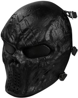 OutdoorMaster Airsoft Mask - Full Face Mask with Mesh Eye Pr