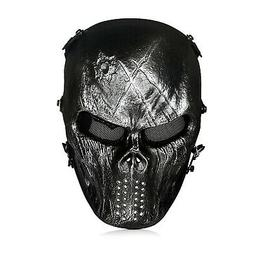 Airsoft Mask, Paintball - Full Face Mask with Mesh Eye Prote