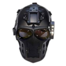Airsoft Mask Paintball BB Gun Skull Full Face mask + LED Lig