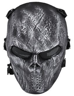 Airsoft Paintball Skull Full Face Mask Tactical Bb Gun Game