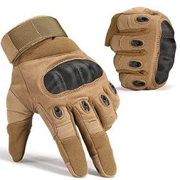 JIUSY Army Military Tactical Touchscreen Hard Knuckle Full F