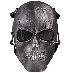 Army Skull Skeleton Airsoft Paintball Bb Gun Game Face Mask