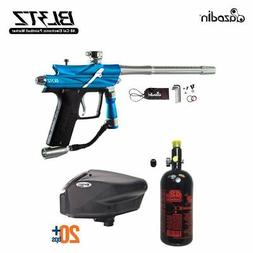 MAddog Azodin Blitz 3 HPA Paintball Gun Package - Blue