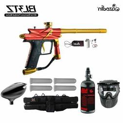 MAddog Azodin Blitz 3 Starter HPA Paintball Gun Package - Or