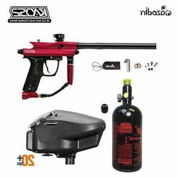 MAddog Azodin KAOS 2 HPA Paintball Gun Package A - Red/Black
