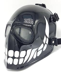 Invader King Black Smiley Airsoft Mask Paintball Protective