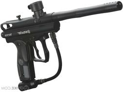 black spyder paintball gun with tank and hopper