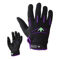 Bunker Kings Supreme Full Finger Paintball Gloves - Purple /