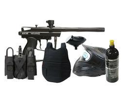 Classic Paintball Spyder Gun Set 20oz tank, goggles, loader,