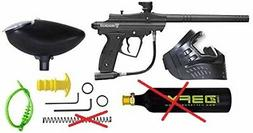 D3FY Conqu3st Semi Auto Paintball Marker Combo Kit, Black