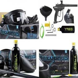 D3FY Conqu3st Semi Auto Paintball Marker Combo Kit BLACK FRE