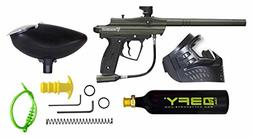 D3FY Conqu3st Semi Auto Paintball Marker Combo Kit, Olive Dr
