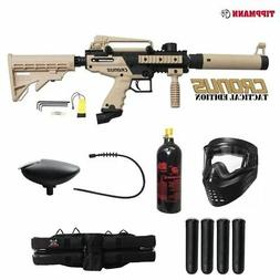 Tippmann Cronus Tactical Silver Paintball Gun Package - Blac