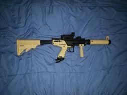 Tippmann Cronus Tan Paintball Gun W/Foregrip, Barrel, Stock