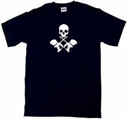 crossed paintball guns with skulls kids tee