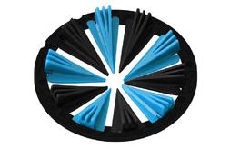 Virtue Crown 2.5 - Dye Rotor - Cyan / Black