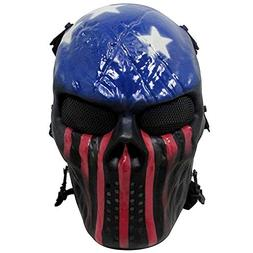 Thiroom Full Face Tactical Airsoft Paintball Cosplay Mask -
