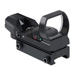 feyachi reflex sight adjustable reticle 4 styles