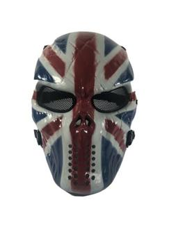 OutdoorMaster Full Face Airsoft Mask with Metal Mesh Eye Pro