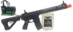 "G&G CM-16 Wild Hog 12"" Black Airsoft Alpha Viper Package"