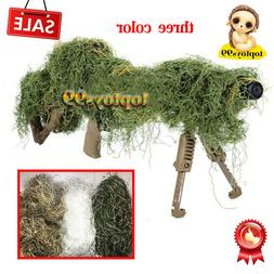 Hunting 3D Camouflage Rifle Gun Wrap Cover For Ghillie Snipe