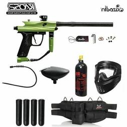 Azodin Kaos 2 Silver Paintball Gun Package - Green / Black