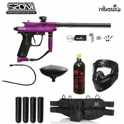 Azodin Kaos 2 Silver Paintball Gun Package - Purple / Black