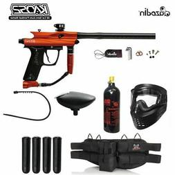 Azodin Kaos 2 Silver Paintball Gun Package - Orange / Black