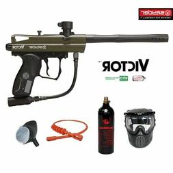 Kingman Spyder Victor Bronze Paintball Gun Package - Olive G