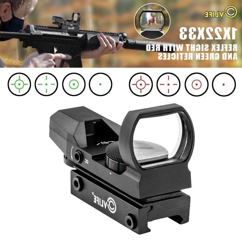 1x22x33 red green dot gun sight scope