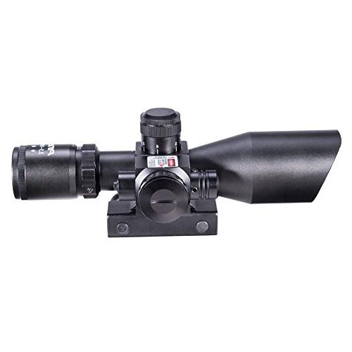 Pinty Green Illuminated Mil-dot Rifle Scope Laser - Lens Color