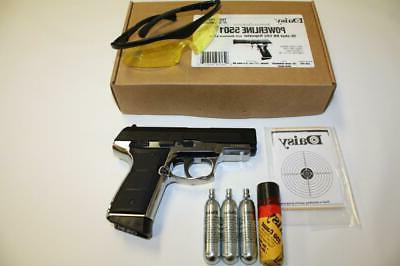 Daisy 5501 PowerLine Pistol CO2 BlowBack .177 Black- Mfg. Re