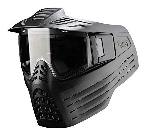 Spyder Paintball Goggle, Empty Tank, Squeegee, Black