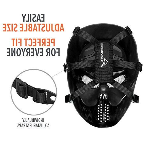 OutdoorMaster Airsoft Mask Full Mask Eye Protection