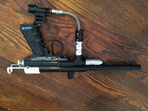 black and chrome xtra paintball gun paintball