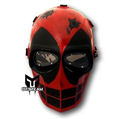 MAXNETO Custom Deadpool Airsoft Mask Paintball BB Gun Protective Gear Full  Face