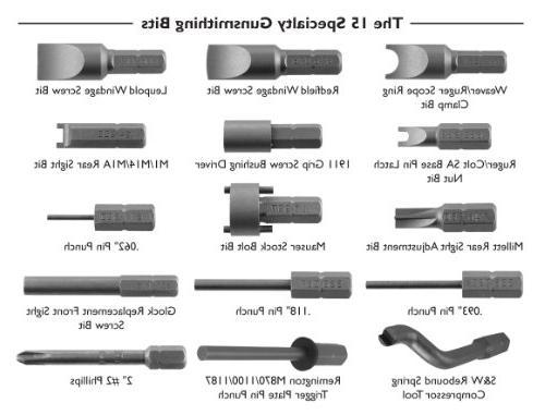 Wheeler Engineering 89-Piece Deluxe Gunsmithing Durable Construction Case for Maintenance