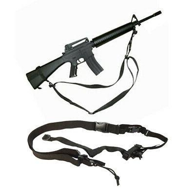 Tactical Black 3 Point Airsoft Rifle Gun Sling Universal Str