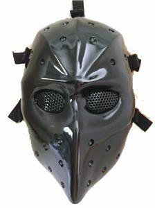 HEAT BLACK AIRSOFT HOCKEY GOGGLE MASK,Airsoft Hockey mask,He