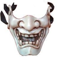 Ivory Kabuki warrior,Airsoft face mask,Paintball masks,Paint