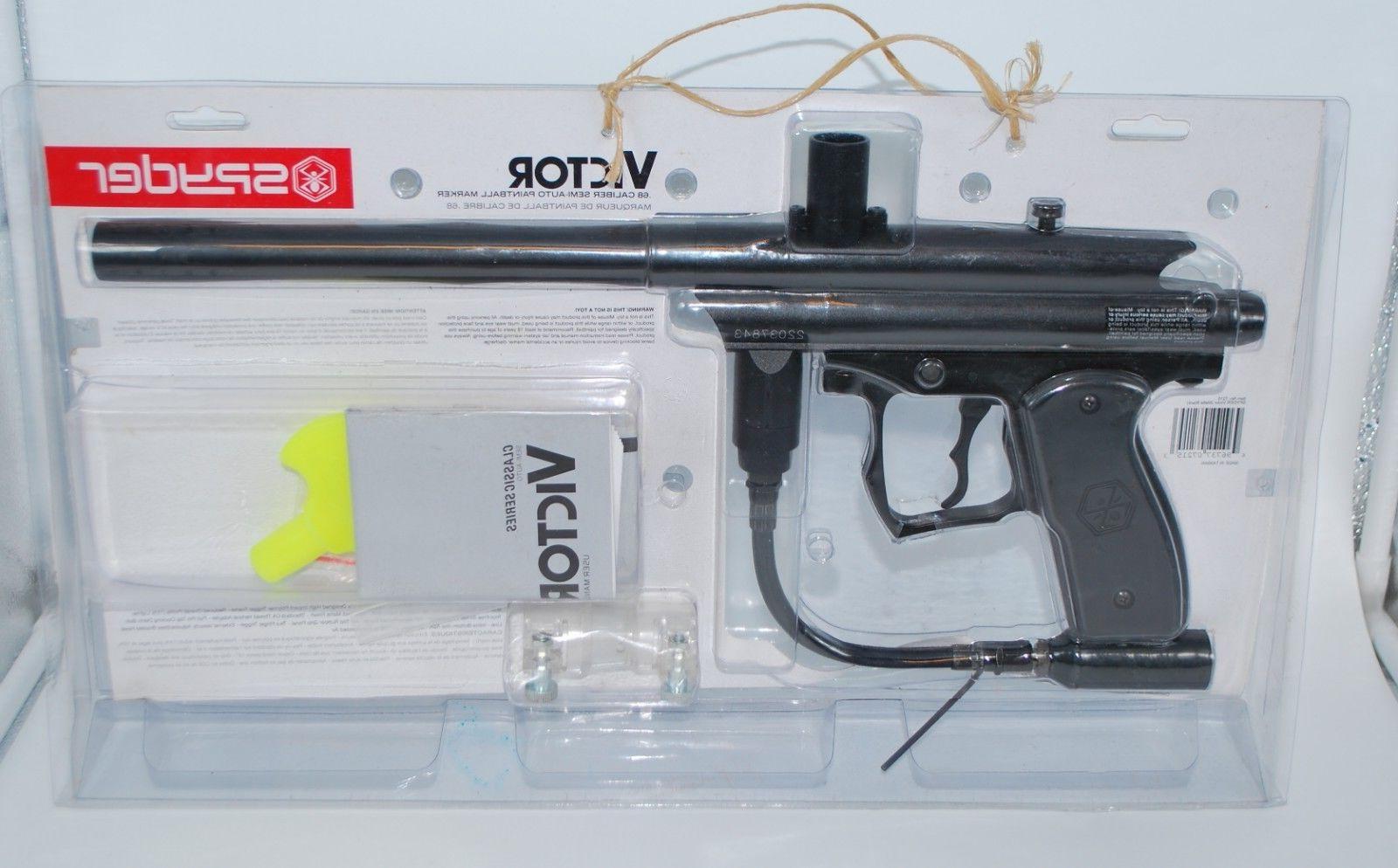 Kingman Spyder Victor .68 Caliber Semi-Auto Paintball Marker Gun, 2009