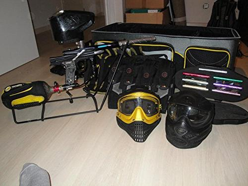 laminated poster paintball equipment game